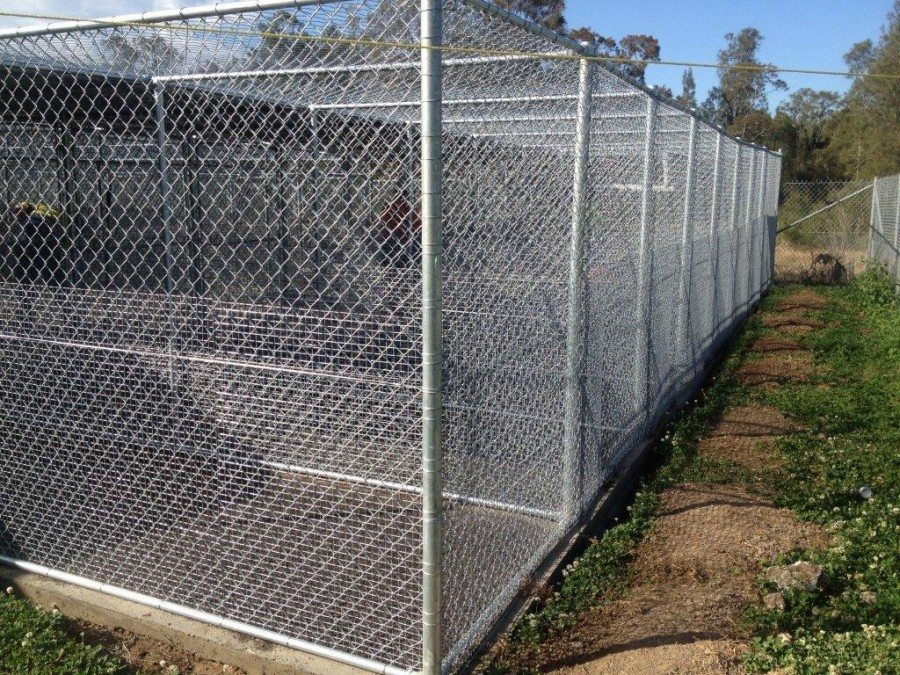 dog run fencing or animal enclosure mesh