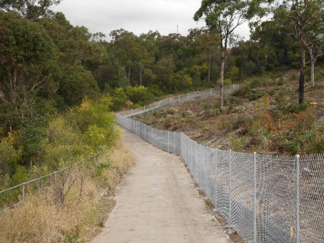 cycleway fencing - Chainwire Fencing Newcastle