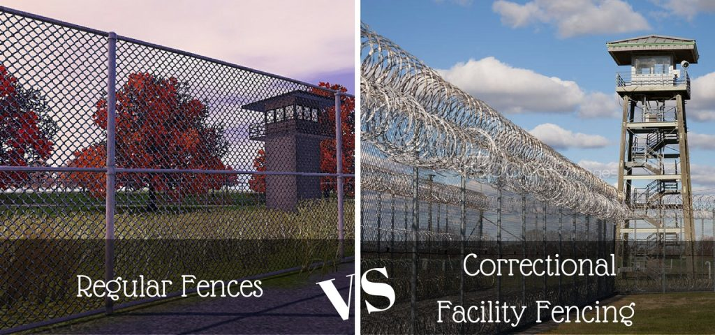 Regular Fences vs. Correctional Facility Fencing