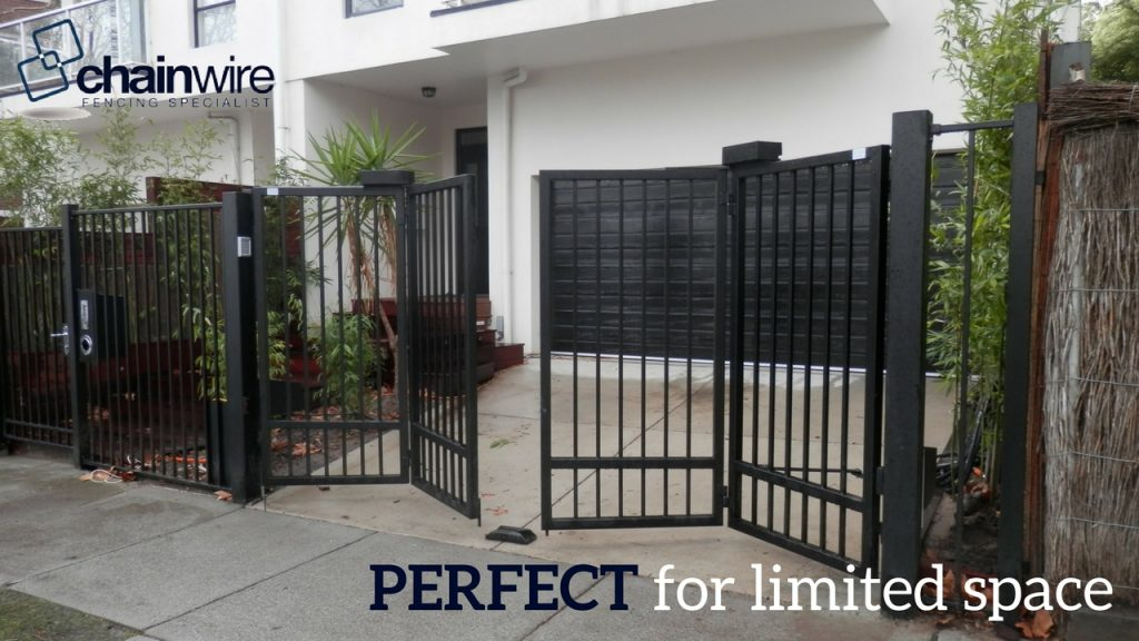 bi fold swing gate feature