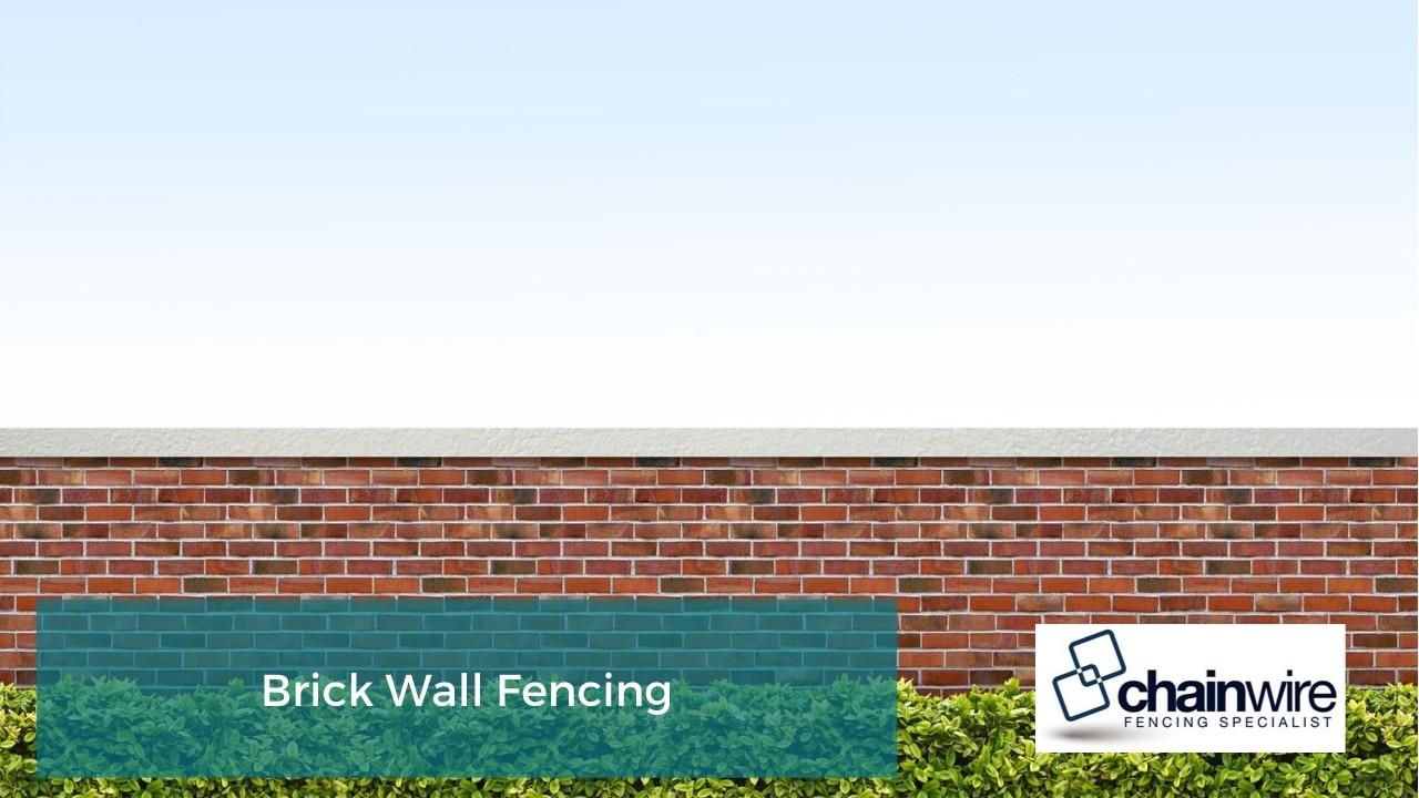 Brick Wall Fencing