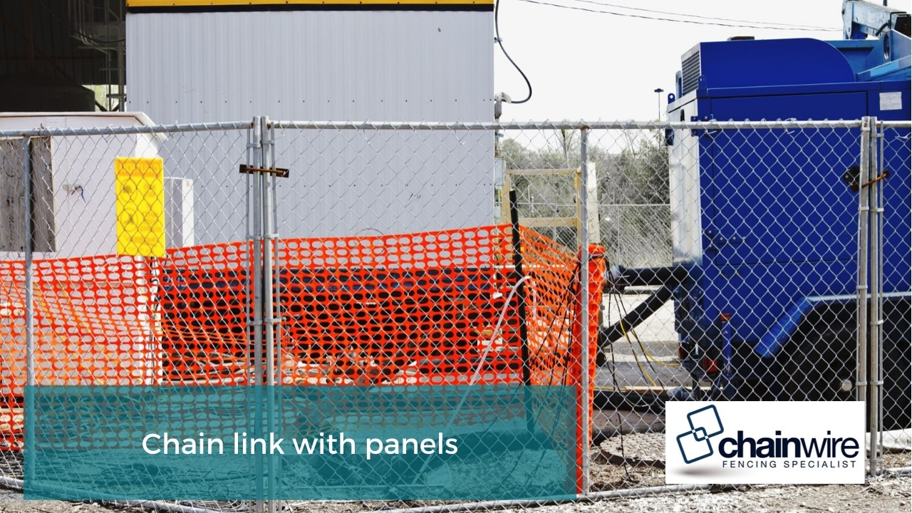 Chain link with panels