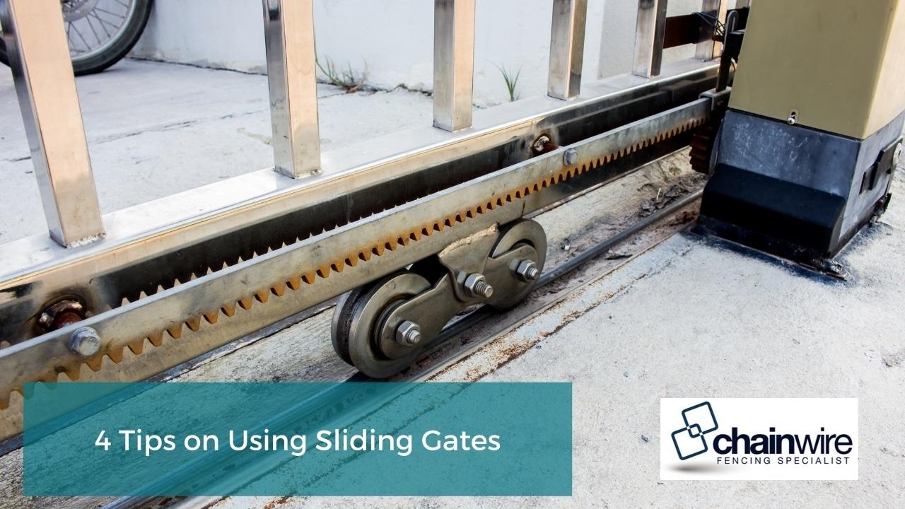 4 Tips on Using Sliding Gates