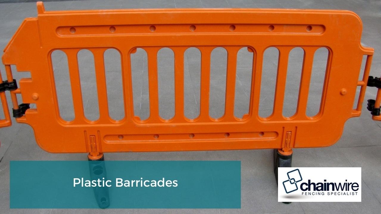 Temporary Fencing - Plastic Barricades