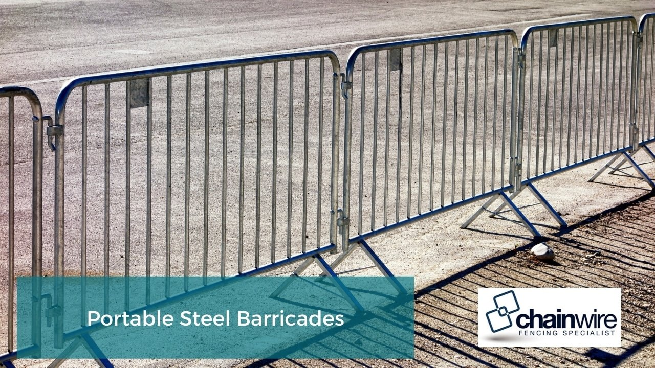 Temporary Fencing - Portable Steel Barricades