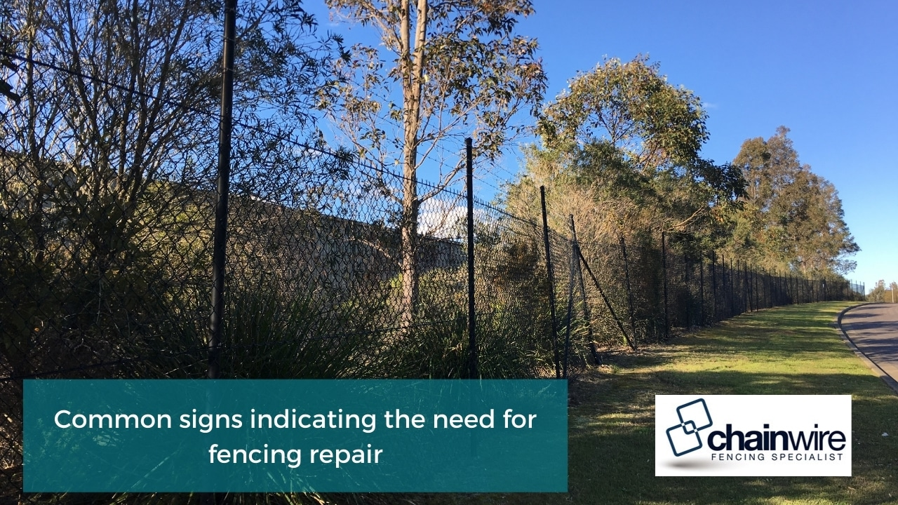 Common signs indicating the need for fencing repair